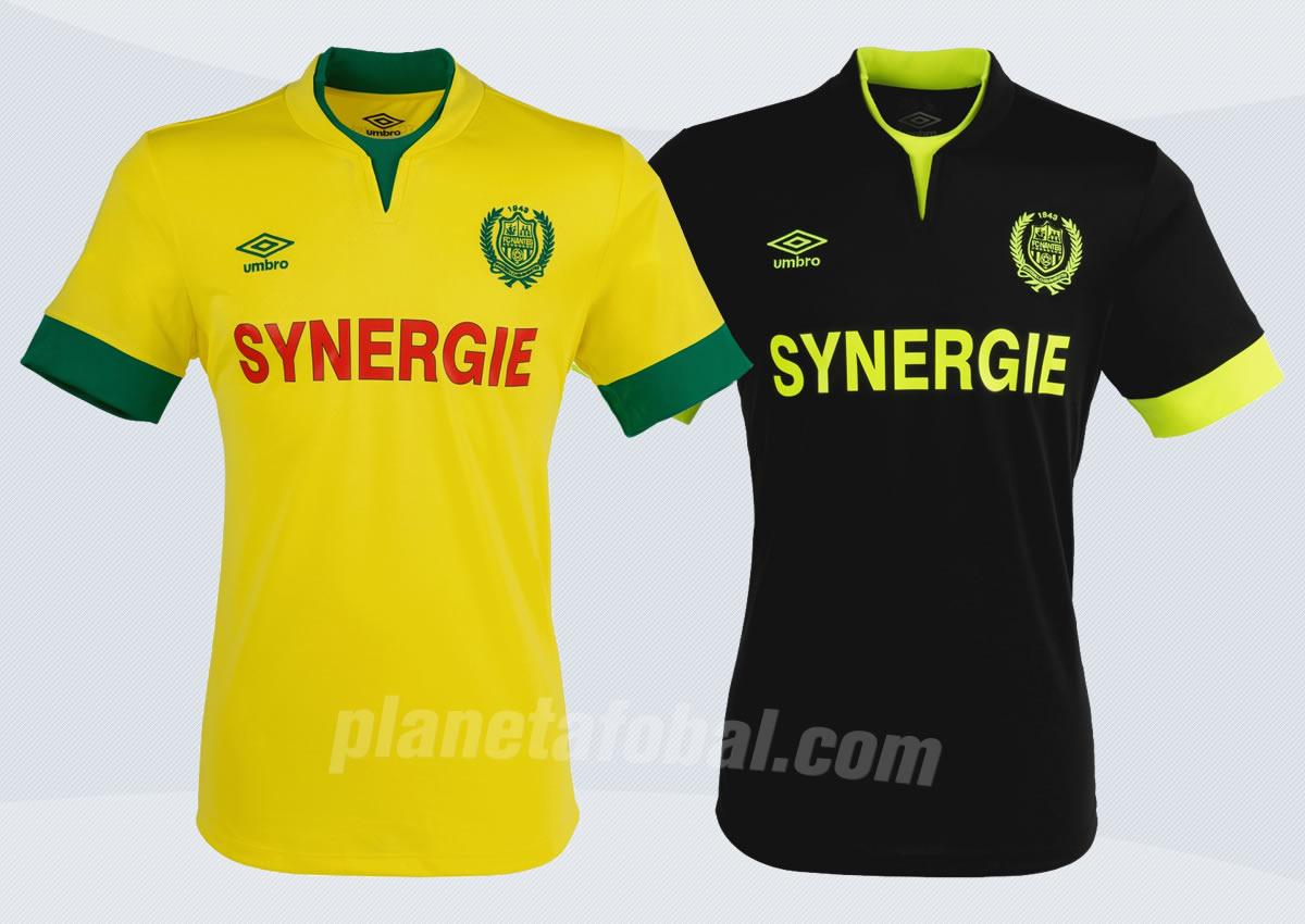 Así lucen las nuevas camisetas Umbro de Nantes | Foto web oficial