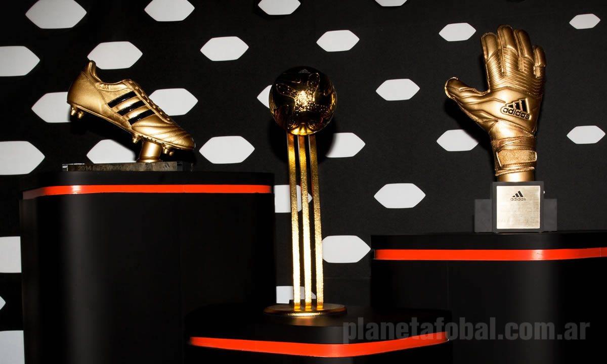 Así lucen los principales tres premios del Mundial Brasil 2014 | Foto Adidas