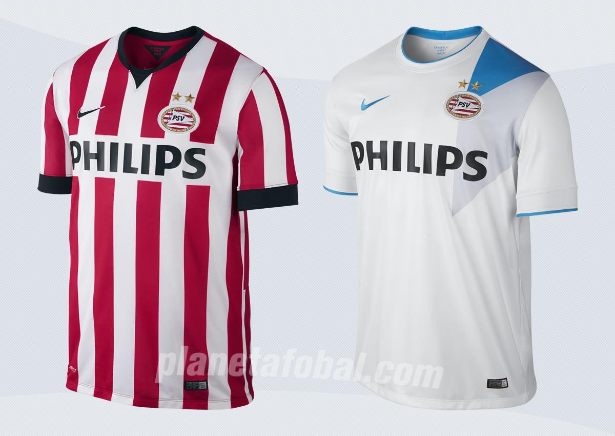 Camiseta titular (izq) y suplente (der) del PSV | Imágenes web oficial