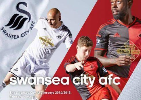 Swansea presentó sus nuevas camisetas   Foto web oficial