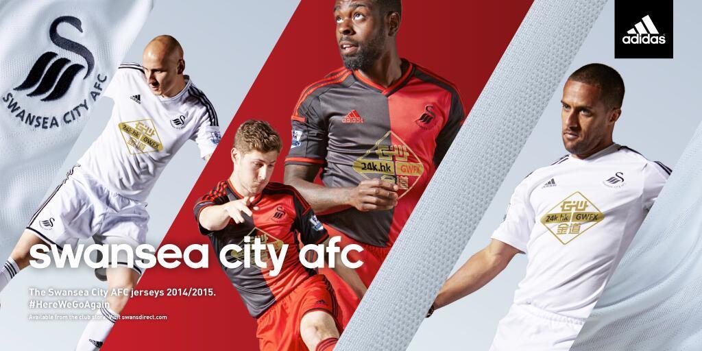 Shelvey y Routledge con la titular, Davies y Dyer con la suplente | Foto web oficial Swansea