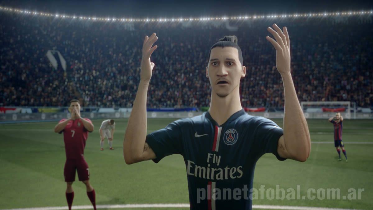 Versiones animadas de Zlatan y Ronaldo | Foto Nike
