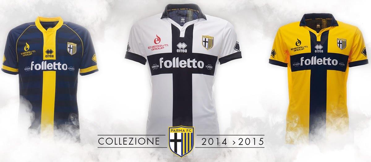 Nuevas camisetas del Parma | Foto Errea