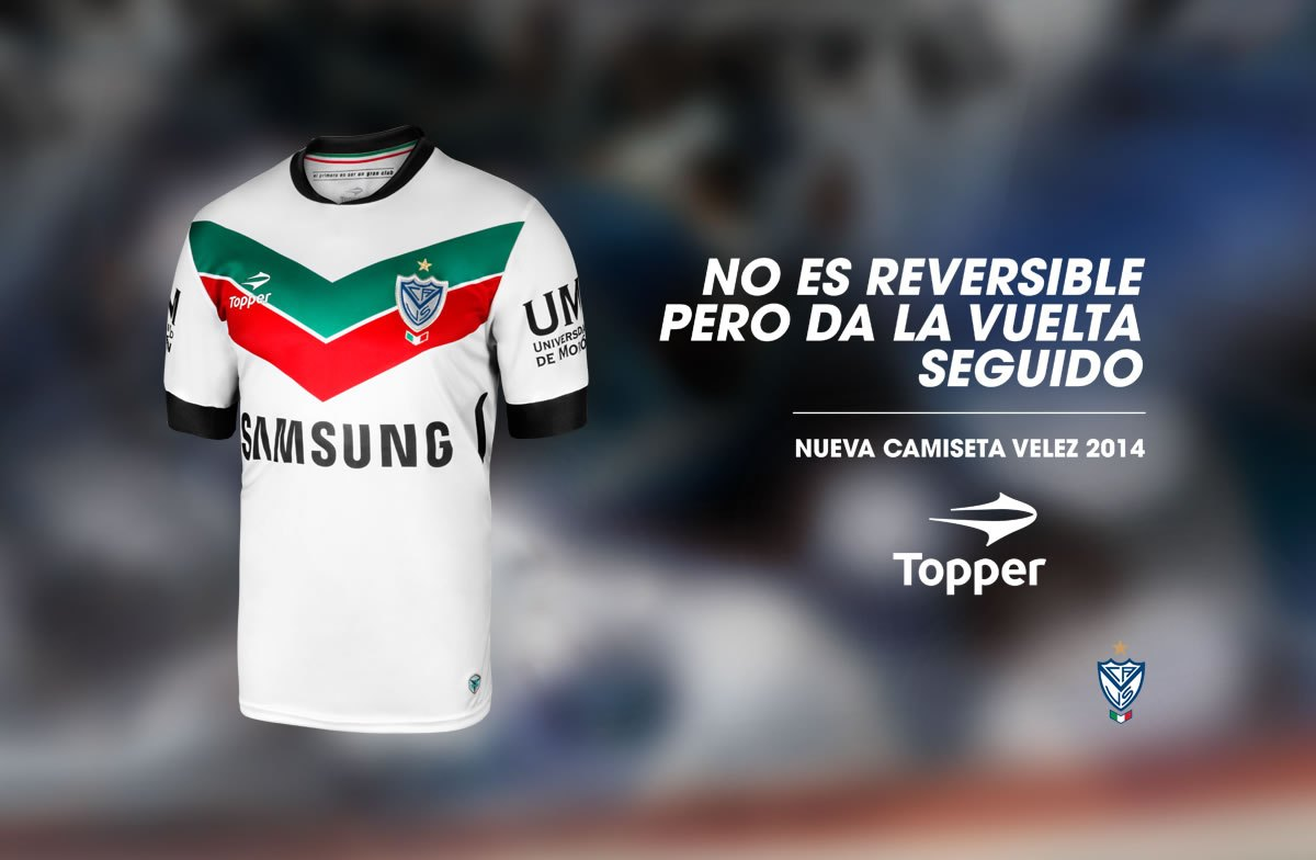 Camiseta alternativa de Velez | Foto Web Oficial