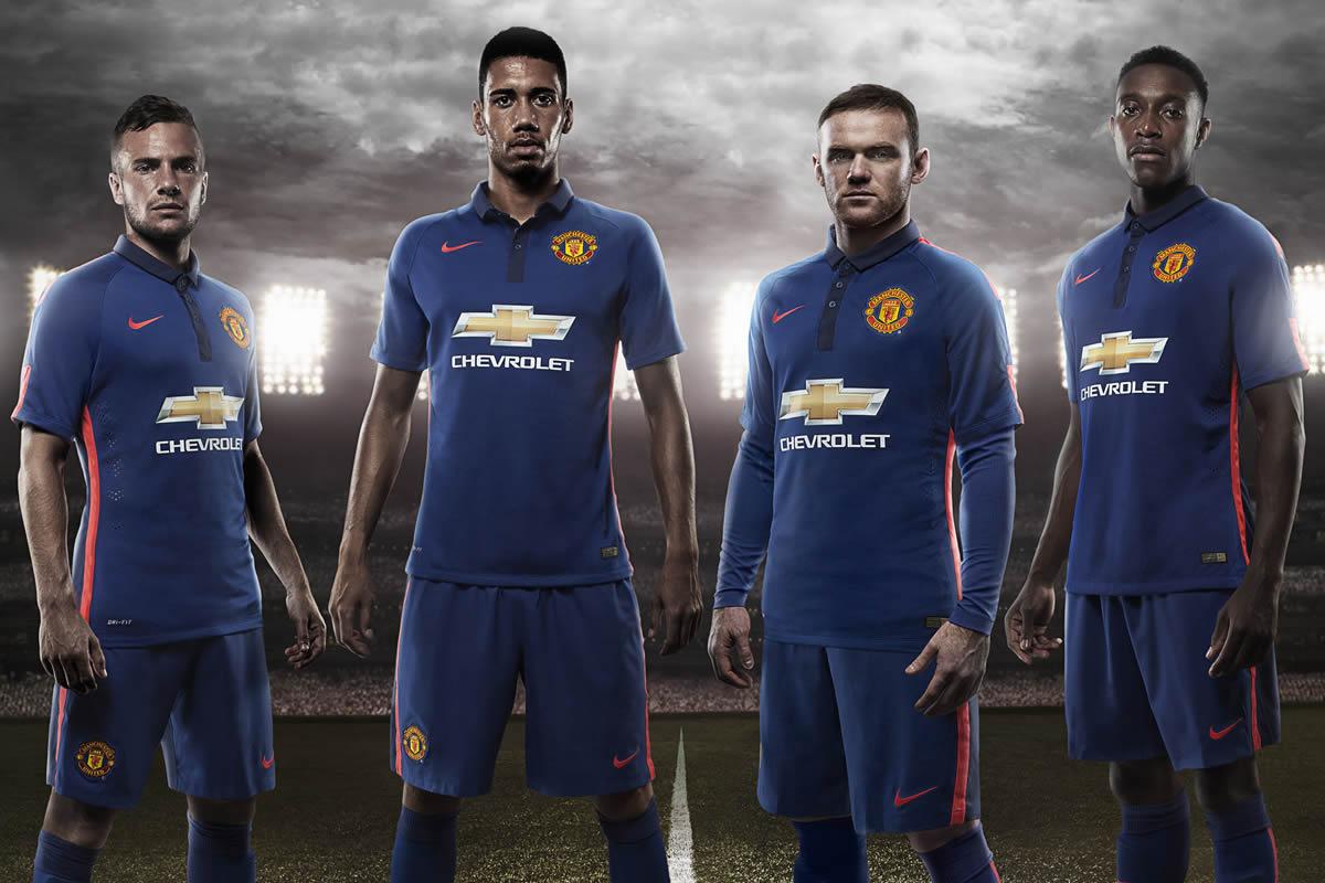 Los jugadores del Manchester United con la tercera camiseta para 2014/2015 | Foto Nike