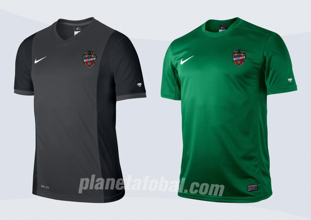 Camiseta suplente (izq) y tercera (der) del Levante | Imágenes Web Oficial