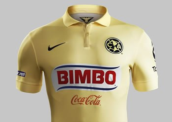 Frente camiseta titular del Club América | Foto Nike