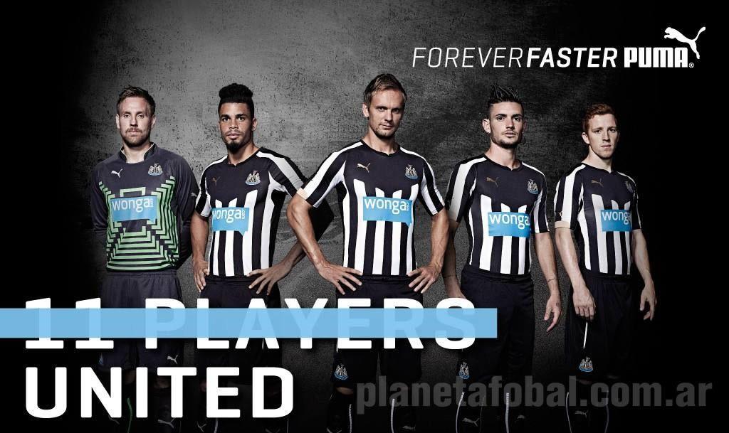 Los jugadores con la nueva camiseta titular Puma | Foto web Newcastle