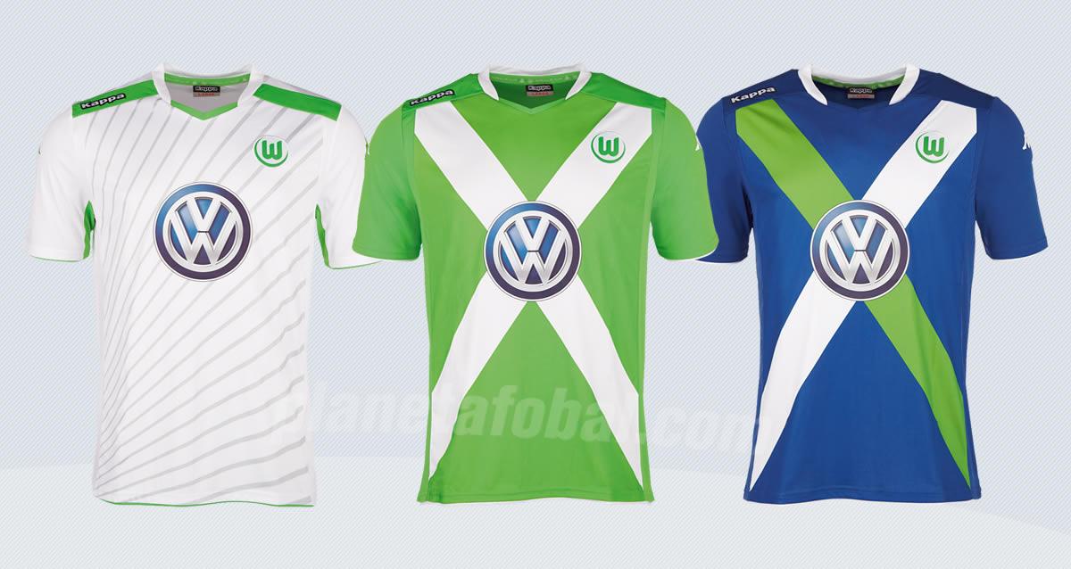 Así lucen las nuevas camisetas Kappa de Wolfsburgo | Foto web oficial