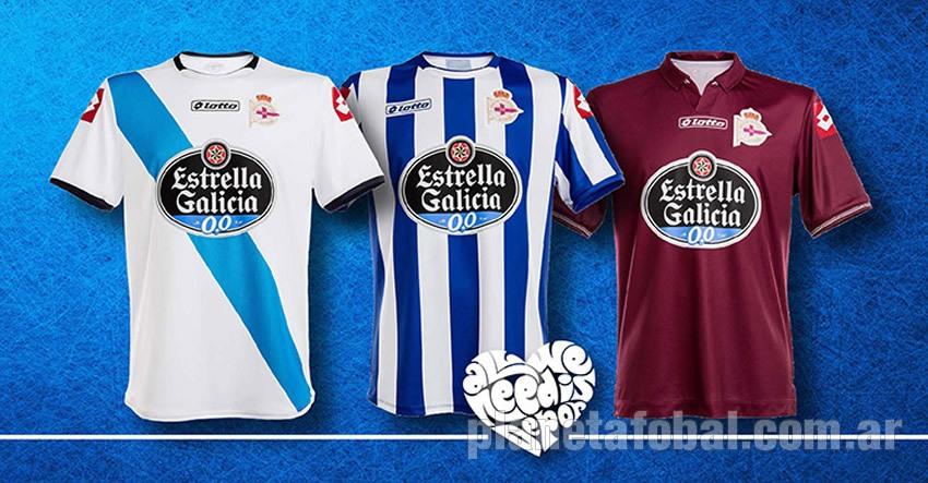 Las tres nuevas casacas del Deportivo | Foto Web Oficial