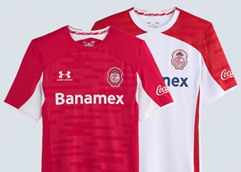 Nuevas camisetas del Toluca | Imágenes Innova Sport