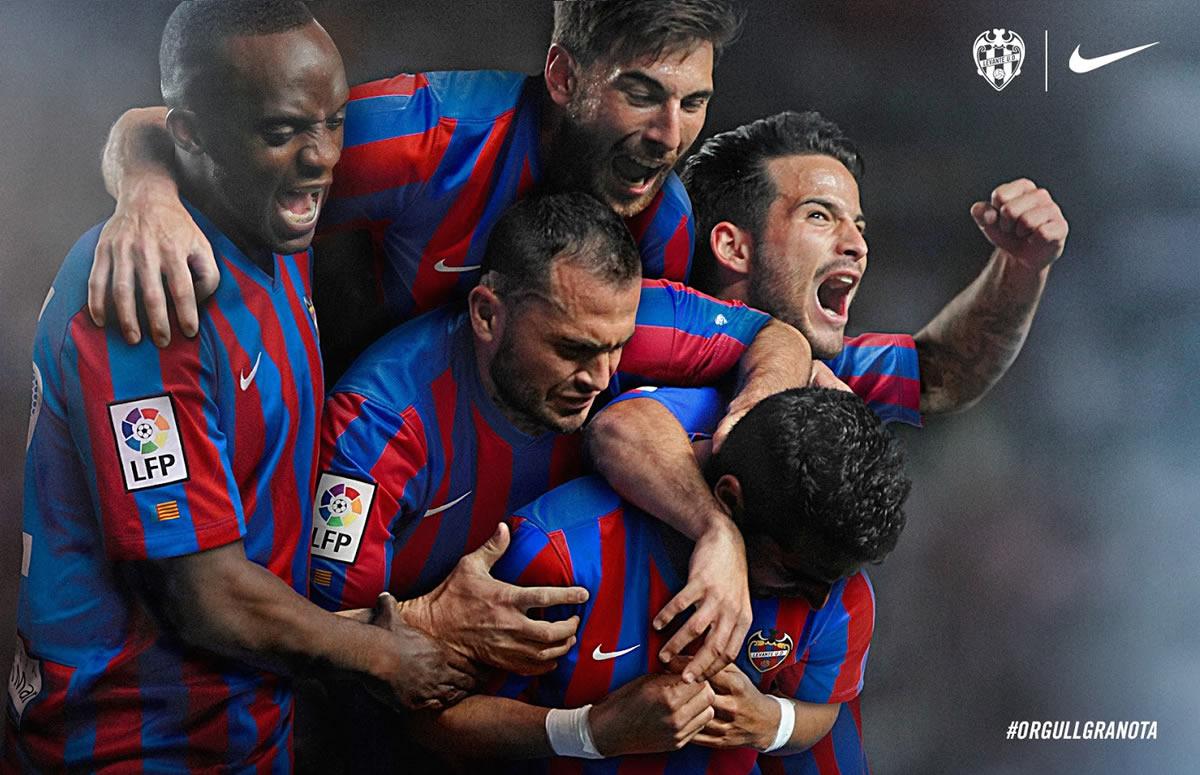 Camiseta titular del Levante | Foto Web Oficial