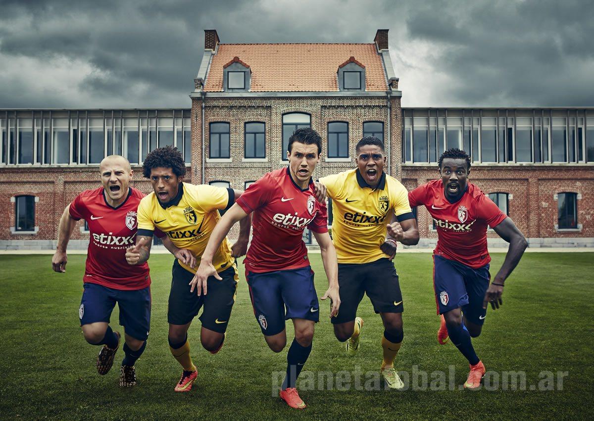Balmont, Mendes, Corchia, Béria y Souare con las nuevas casacas de Lille | Foto Nike