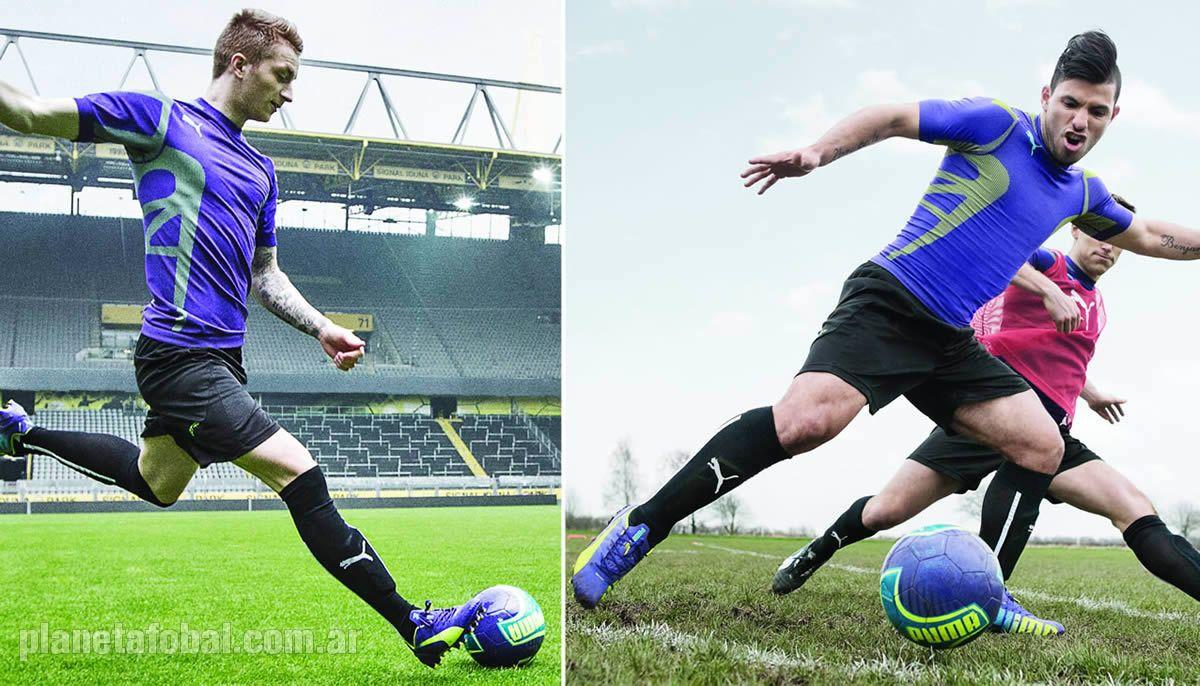 Marco Reus y Sergio Aguero con el nuevo modelo | Foto Puma