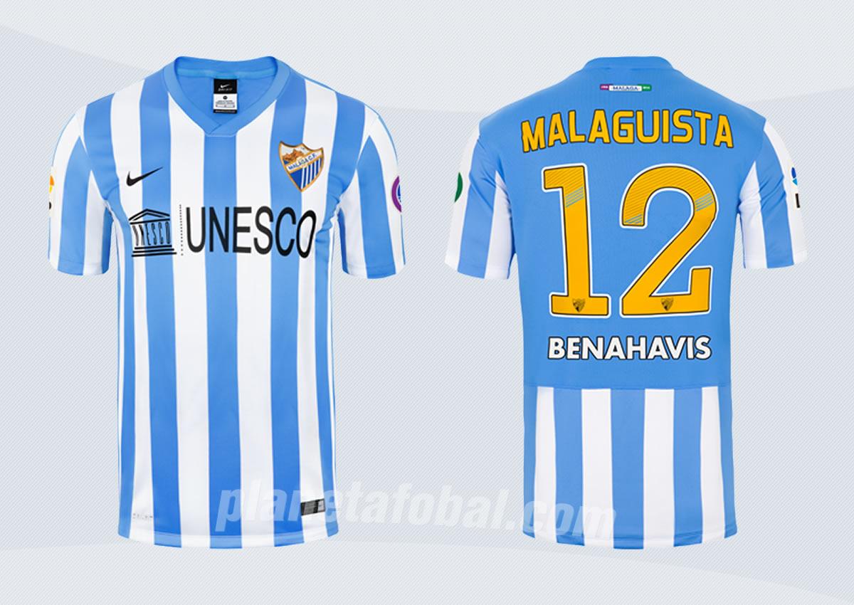 Nueva camiseta titular del Málaga para 2014/2015 | Foto web oficial