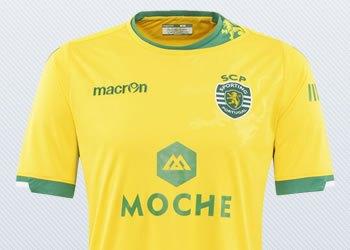 Camiseta suplente del Sporting Lisboa para 2014/2015 | Foto Macron