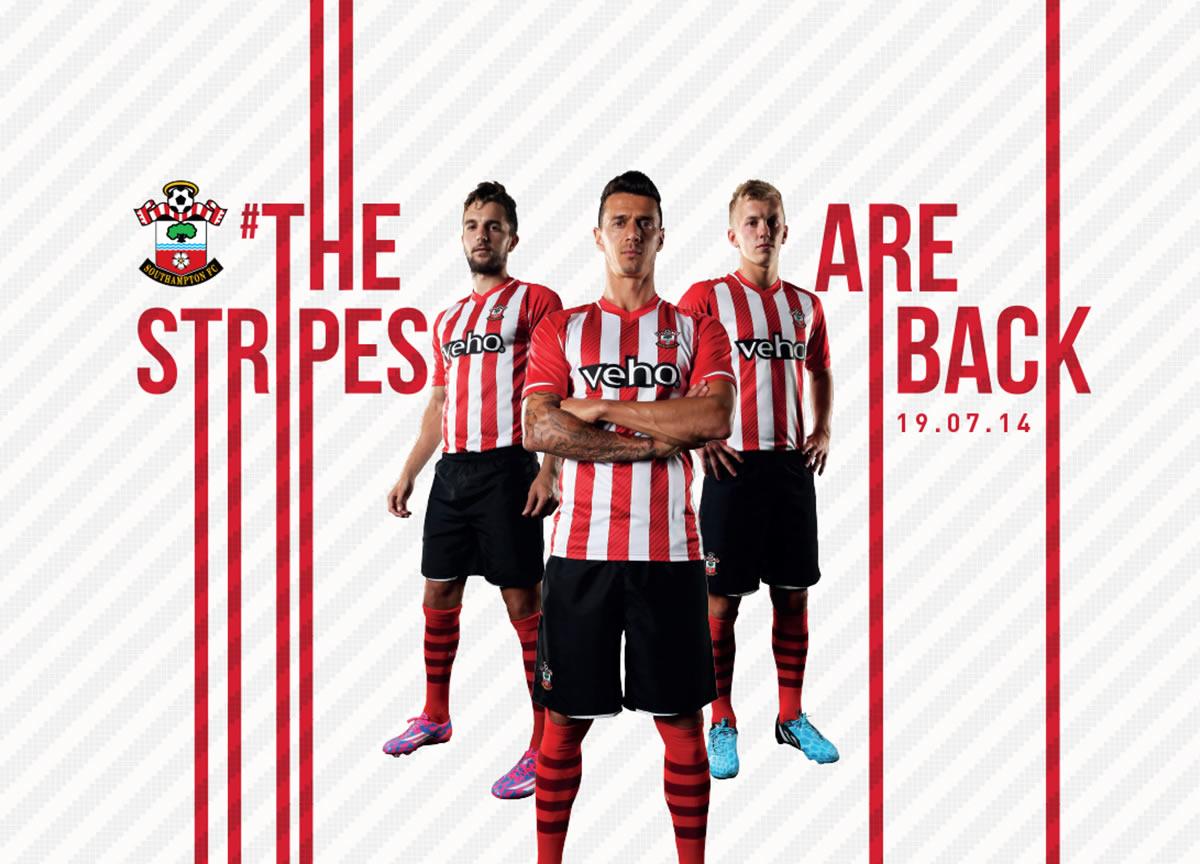 Southampton presentó su nueva camiseta titular | Foto web oficial
