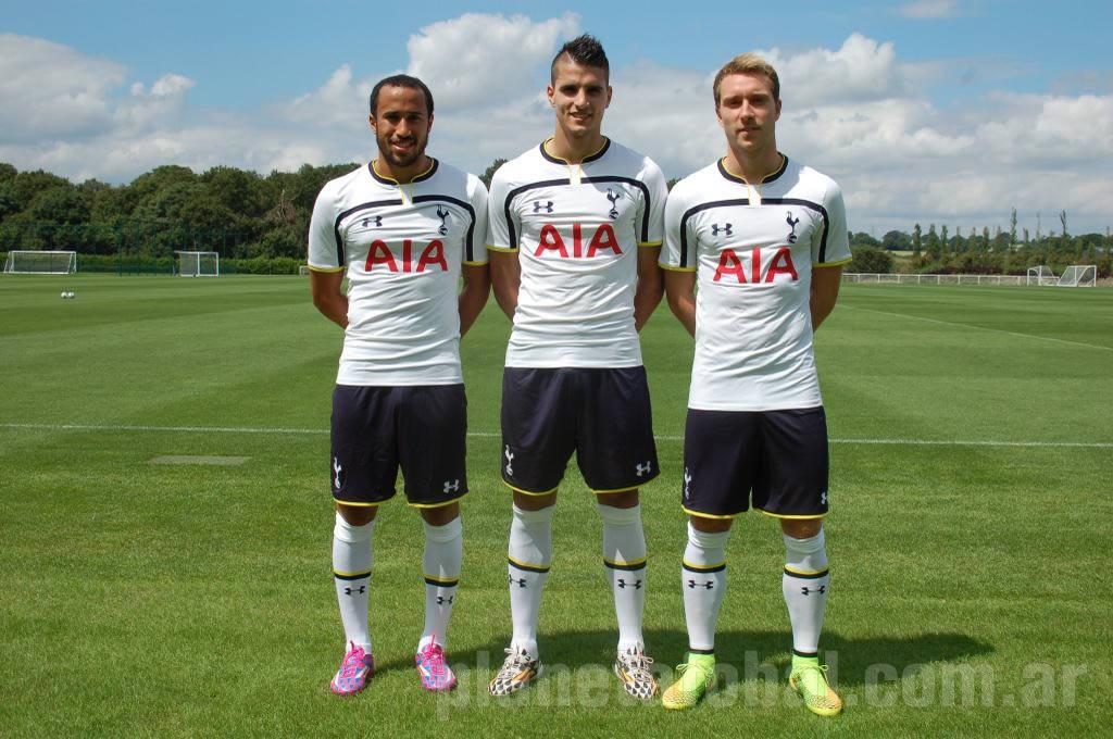 Townsend, Lamela y Eriksen con la nueva camiseta | Foto web oficial