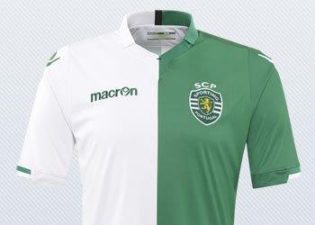"Tercera camiseta ""Stromp"" del Sporting Lisboa para 2014/2015 | Foto Macron"