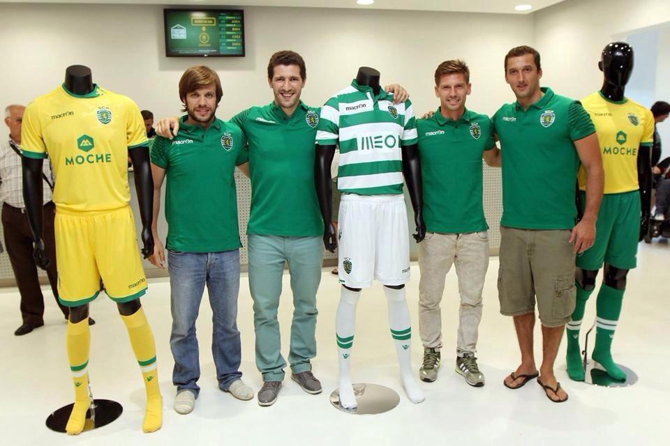 Sporting Lisboa presentó sus nuevas camisetas | Foto Macron