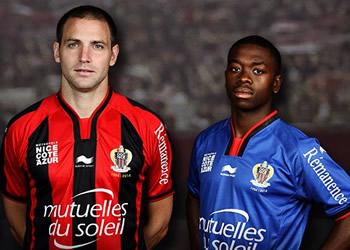 Las nueva camisetas del Niza | Foto Web Oficial