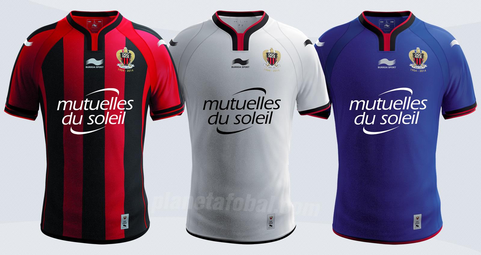 Las nueva camisetas del Niza | Imágenes Web Oficial