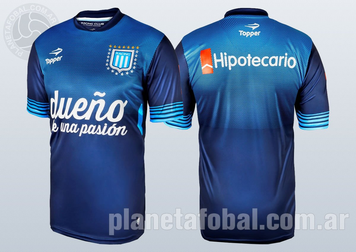 Segunda camiseta alternativa Topper de Racing | Imágenes Web Oficial
