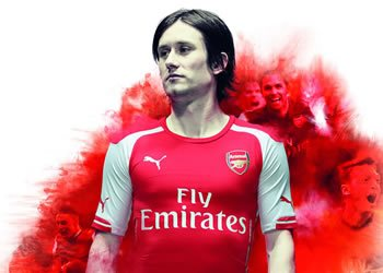 Tomas Rosicky con la nueva camiseta titular de Arsenal | Foto Puma