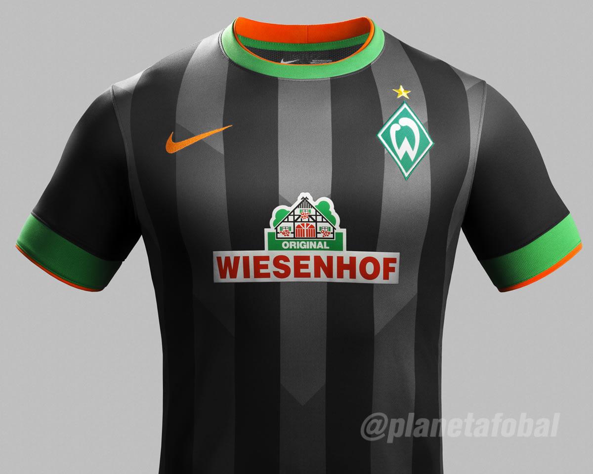 Camiseta suplente del Werder Bremen   Foto Nike