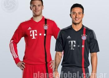 Manuel Neuer y Thiago Alcántara posan con la tercera casaca | Imágenes Web Oficial