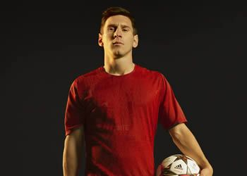 Messi con los botines para la Champions | Foto Adidas