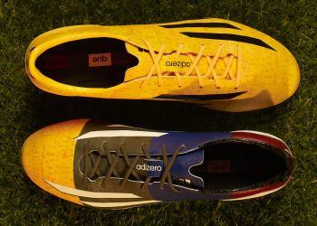 Los dos f50 Adizero de Messi | Foto Adidas