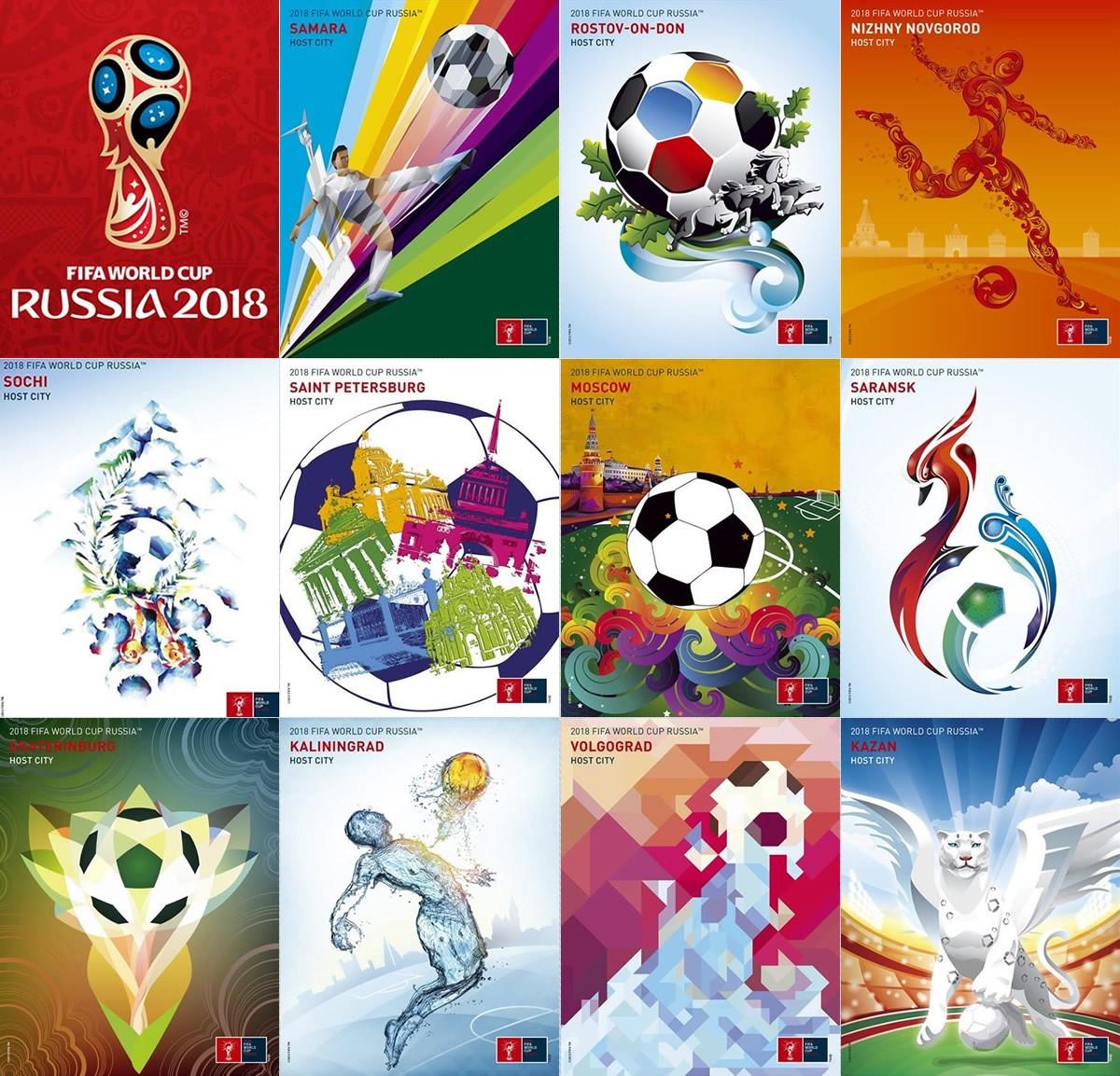 Los carteles de las 11 sedes el Mundial Rusia 2018 | Imágenes FIFA