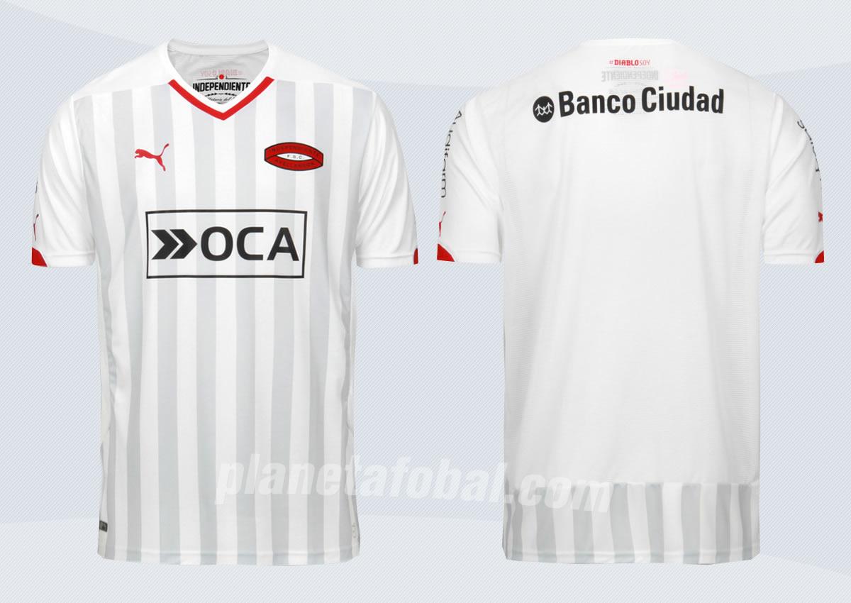 Independiente presentó su nueva camiseta alternativa blanca | Foto web oficial
