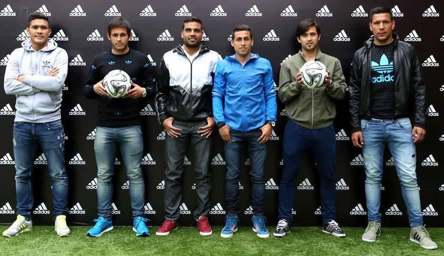 Jugadores de River y Boca en el evento de Adidas