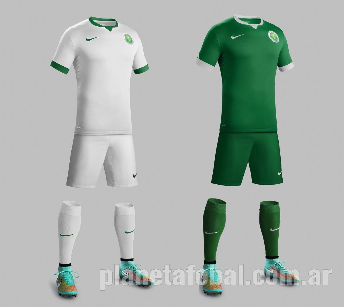 Las dos casacas de Arabia Saudita | Foto Nike