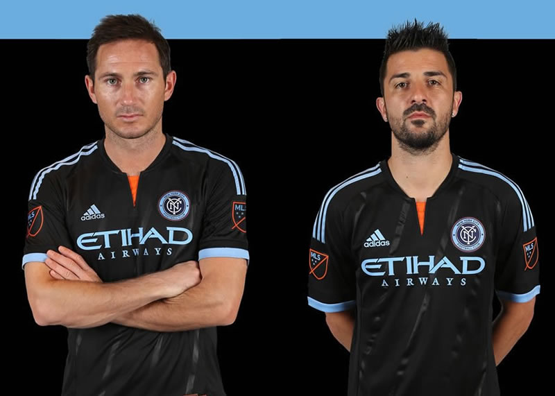 Lampard y David Villa con la casaca suplente | Imagenes web New York City FC