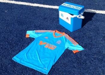 Adidas utilizó la ya característica heladera de Bielsa en la presentación | Foto web Marsella