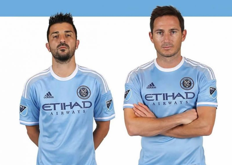 David Villa y Frank Lampard con la camiseta que usarán en 2015 | Foto New York City FC