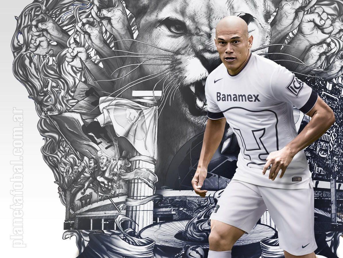 Darío Verón con la tercera camiseta de Pumas | Foto Nike