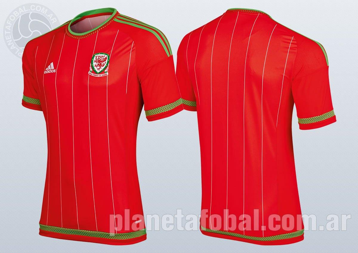 Camiseta titular de Galés | Foto Adidas