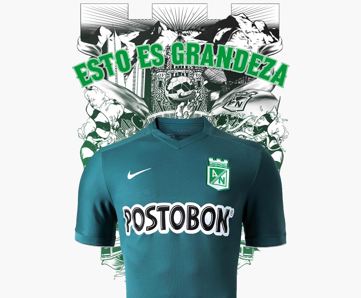 Camiseta suplente de Atlético Nacional para 2015 | Imagen Nike