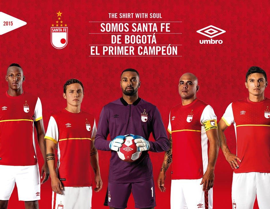 Camiseta titular de Independiente Santa Fe para 2015 | Foto Umbro