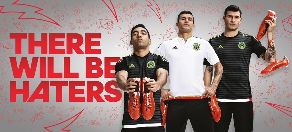 """Los jugadores con las nuevas camisetas del """"Tri""""   Foto Adidas México"""