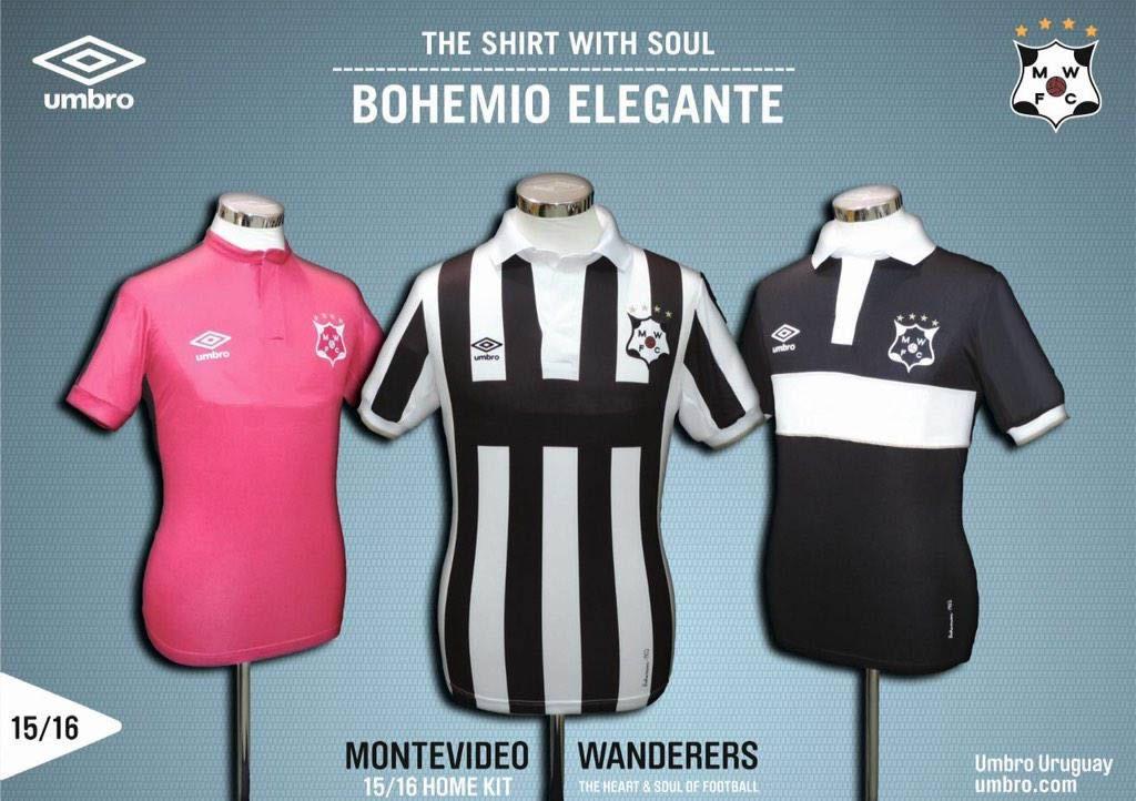 Nuevas camisetas Umbro de Montevideo Wanderers | Foto Twitter oficial