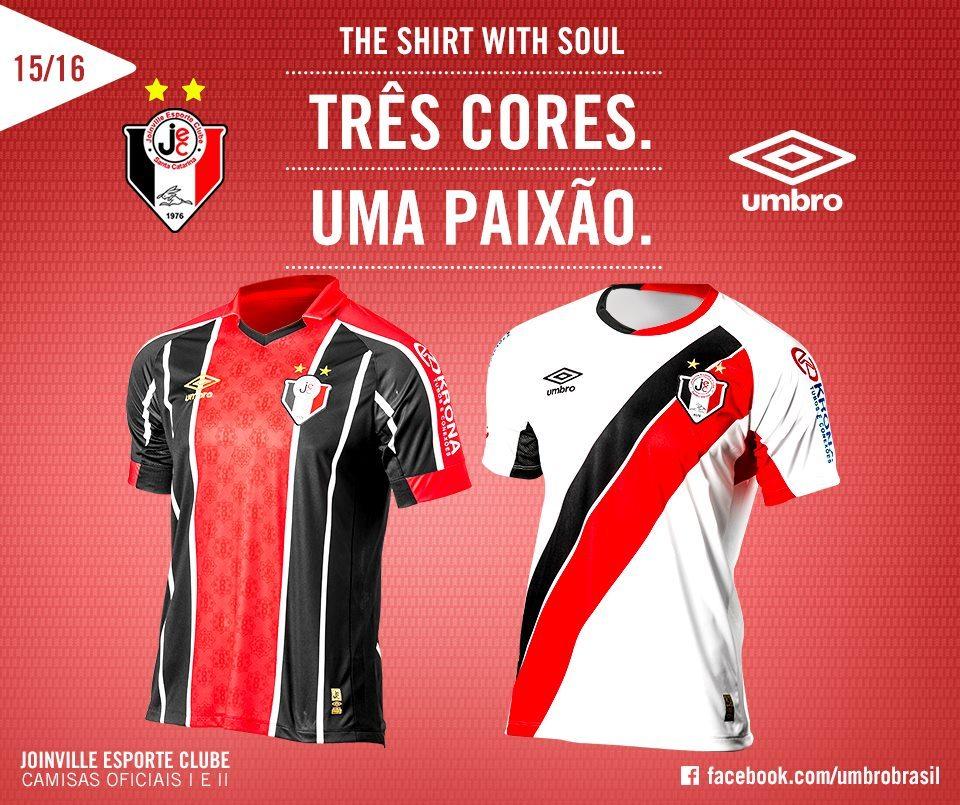 Nuevas camisetas del Joinville | Foto Umbro