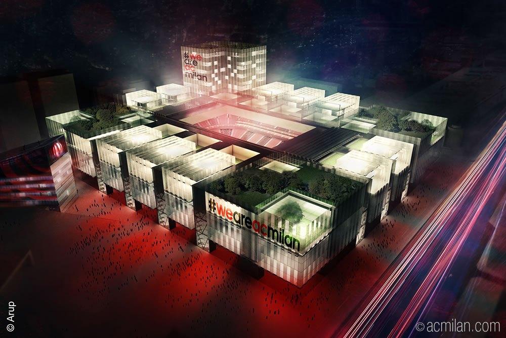 Asi será el nuevo estadio del Milán   Imagen Web Oficial