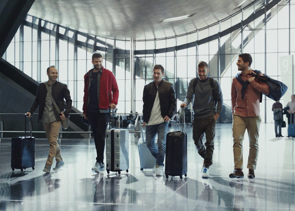 Nuevo comercial de Qatar Airways con los jugadores del Barcelona   Foto Instagram QA