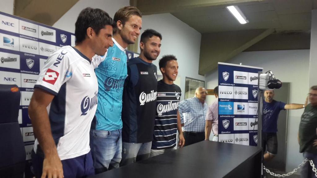 Nuevas camisetas de Quilmes | Foto Twitter @RomanSledz
