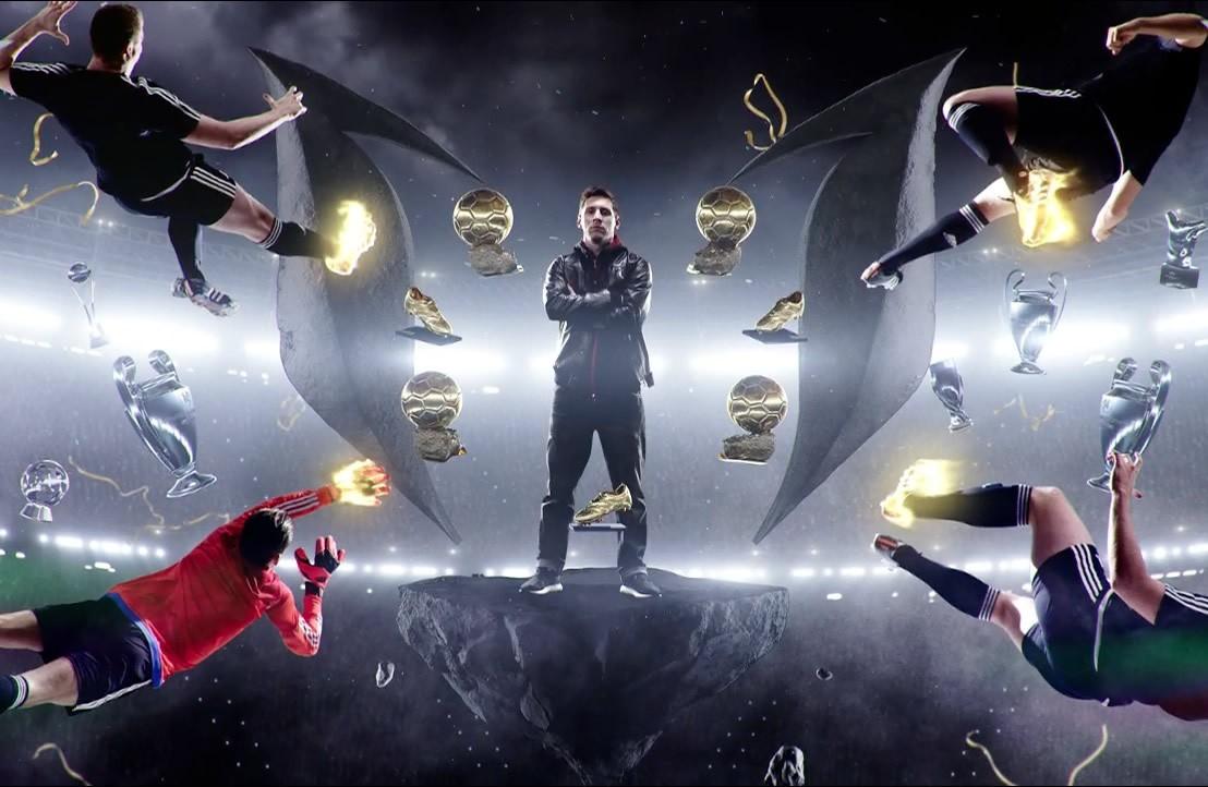 Messi en lo nuevo de Adidas